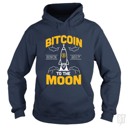 SunFrog-Busted BustedTees Hoodie / Navy Blue / S Bitcoin To The Moon