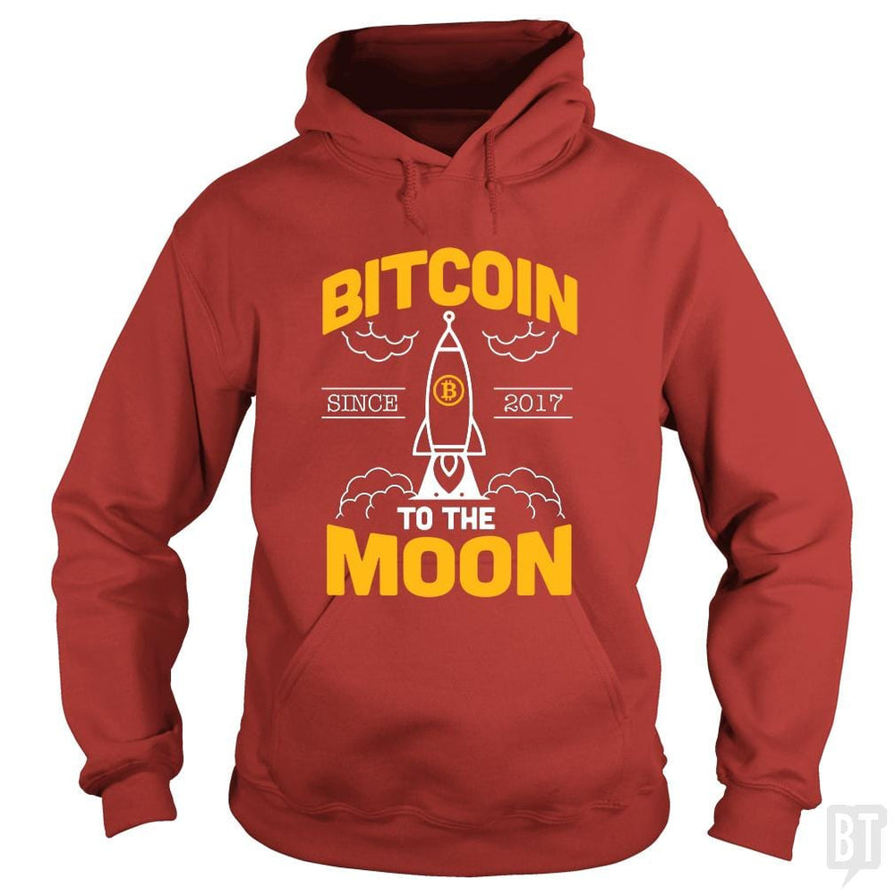 SunFrog-Busted BustedTees Hoodie / Red / S Bitcoin To The Moon