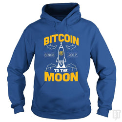 SunFrog-Busted BustedTees Hoodie / Royal Blue / S Bitcoin To The Moon