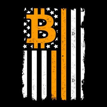 SunFrog-Busted BustedTees Bitcoin US Flag