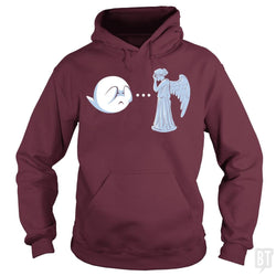 SunFrog-Busted BustedTees Hoodie / Maroon / S Boo vs. Angel