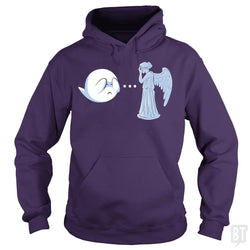 SunFrog-Busted BustedTees Hoodie / Purple / S Boo vs. Angel