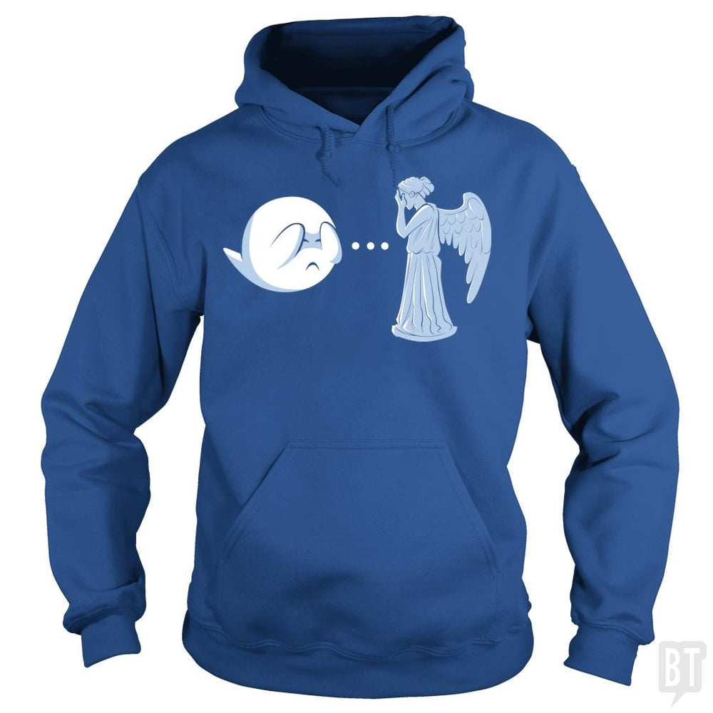 SunFrog-Busted BustedTees Hoodie / Royal Blue / S Boo vs. Angel