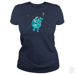 SunFrog-Busted BustedTees Classic Ladies Tee / Navy Blue / S Fatstronaut