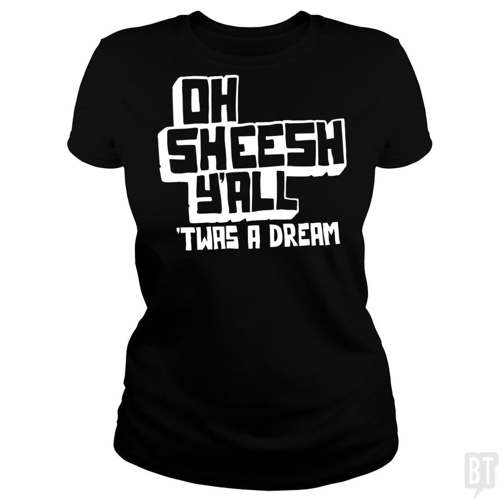 SunFrog-Busted BustedTees Classic Ladies Tee / Black / S Jake and Amir: Oh Sheesh Y'all