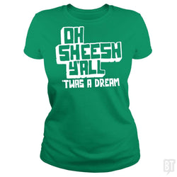 SunFrog-Busted BustedTees Classic Ladies Tee / Irish Green / S Jake and Amir: Oh Sheesh Y'all