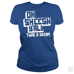 SunFrog-Busted BustedTees Classic Ladies Tee / Royal Blue / S Jake and Amir: Oh Sheesh Y'all