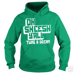 SunFrog-Busted BustedTees Hoodie / Irish Green / S Jake and Amir: Oh Sheesh Y'all