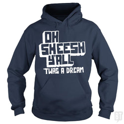SunFrog-Busted BustedTees Hoodie / Navy Blue / S Jake and Amir: Oh Sheesh Y'all