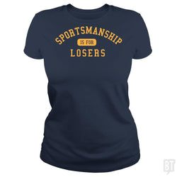 SunFrog-Busted BustedTees Classic Ladies Tee / Navy Blue / S Sportsmanship
