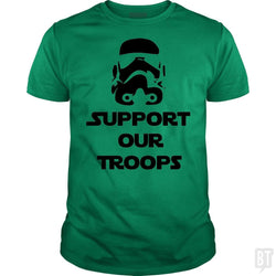 SunFrog-Busted BustedTees Classic Guys / Unisex Tee / Irish Green / S Support our Troops