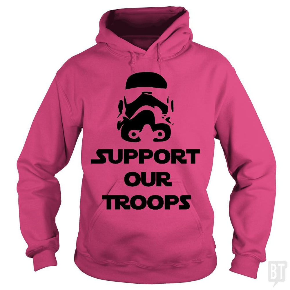 SunFrog-Busted BustedTees Hoodie / Heliconia / S Support our Troops