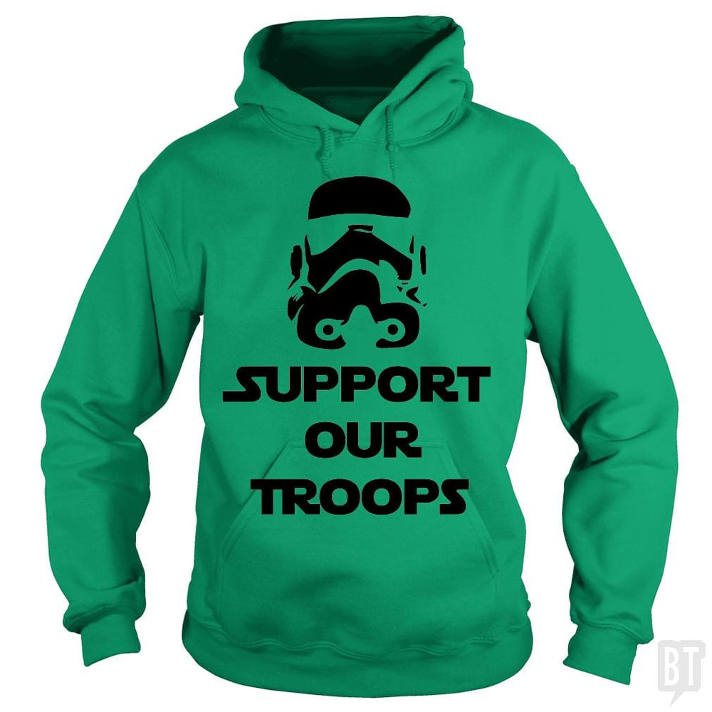 SunFrog-Busted BustedTees Hoodie / Irish Green / S Support our Troops