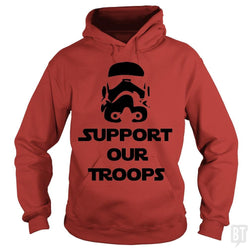 SunFrog-Busted BustedTees Hoodie / Red / S Support our Troops