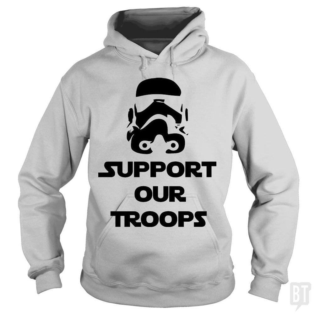 SunFrog-Busted BustedTees Hoodie / Sport Grey / S Support our Troops