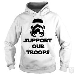 SunFrog-Busted BustedTees Hoodie / White / S Support our Troops