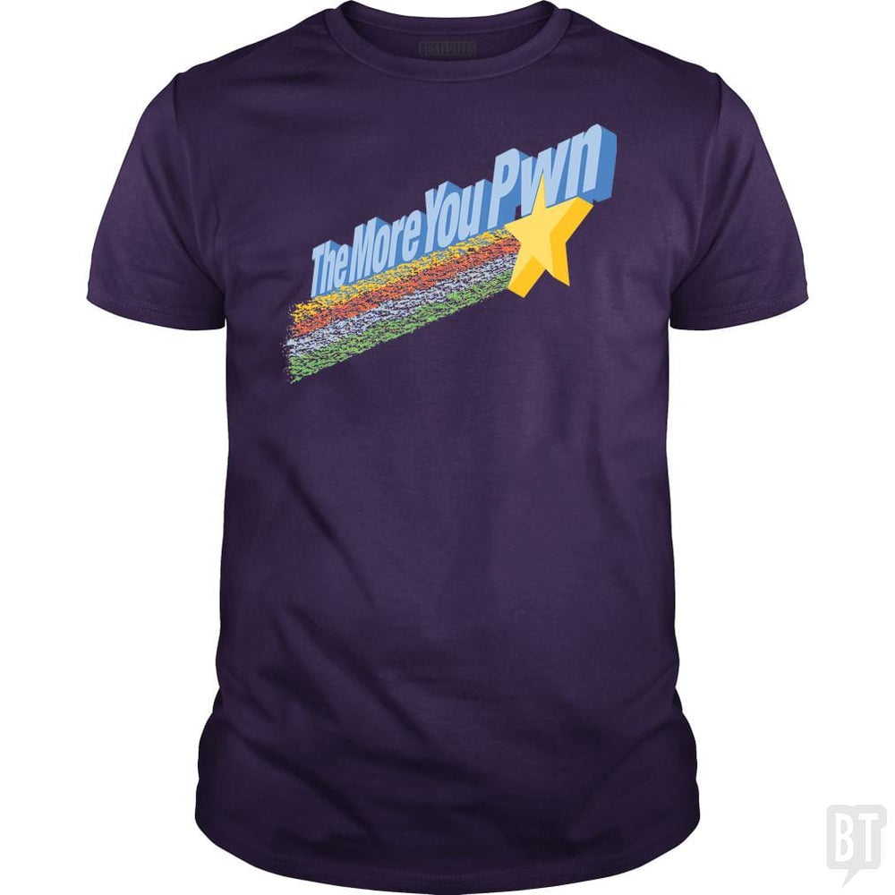 SunFrog-Busted BustedTees Classic Guys / Unisex Tee / Purple / S The More You Pwn
