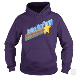 SunFrog-Busted BustedTees Hoodie / Purple / S The More You Pwn