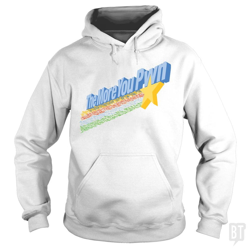 SunFrog-Busted BustedTees Hoodie / White / S The More You Pwn