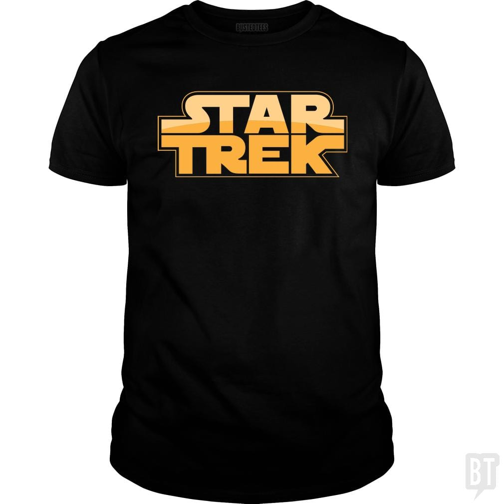 SunFrog-Busted BustedTees Classic Guys / Unisex Tee / Black / S Trek Wars