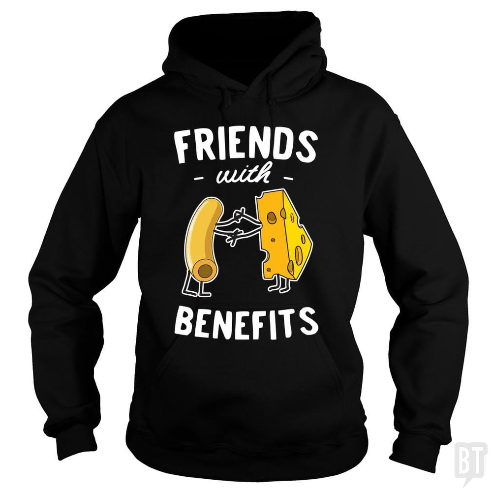 SunFrog-Busted Contour Hoodie / Black / S Mac & Cheese Friends with benefits
