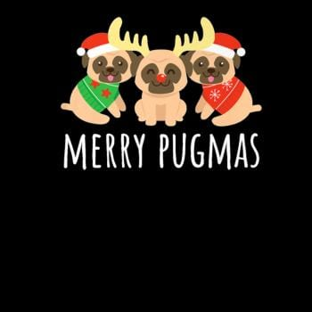 SunFrog-Busted CT486 Merry Pugmas Pug Dog Funny Cute Ugly Christmas Shi