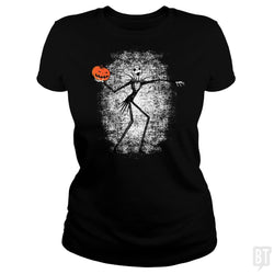 SunFrog-Busted Daletheskater Classic Ladies Tee / Black / S Throwing Pumpkins