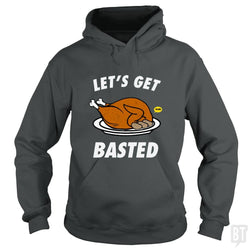 SunFrog-Busted Daniel15 Hoodie / Dark Heather / S Let's Get Basted Thanksgiving Day