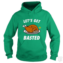 SunFrog-Busted Daniel15 Hoodie / Irish Green / S Let's Get Basted Thanksgiving Day
