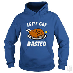 SunFrog-Busted Daniel15 Hoodie / Royal Blue / S Let's Get Basted Thanksgiving Day