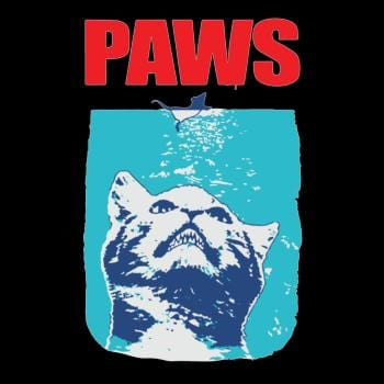 SunFrog-Busted danil Funny Tee Paws Parody Tees for Cat Kitten Shark &