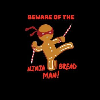 SunFrog-Busted Diah260 Beware Of The Ninja Bread Man