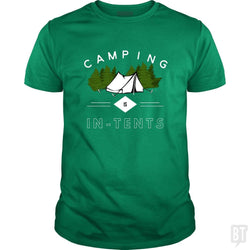 SunFrog-Busted Drandorxxx Classic Guys / Unisex Tee / Irish Green / S Camping is in-tents, funny word play