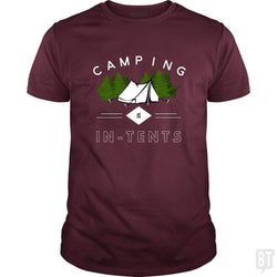 SunFrog-Busted Drandorxxx Classic Guys / Unisex Tee / Maroon / S Camping is in-tents, funny word play