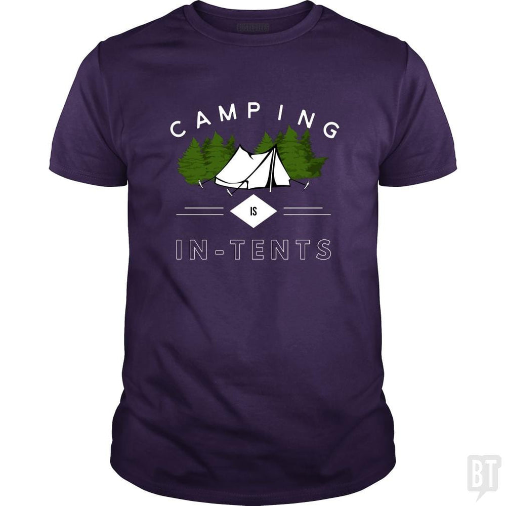 SunFrog-Busted Drandorxxx Classic Guys / Unisex Tee / Purple / S Camping is in-tents, funny word play