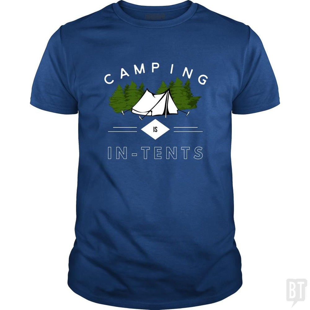 SunFrog-Busted Drandorxxx Classic Guys / Unisex Tee / Royal Blue / S Camping is in-tents, funny word play