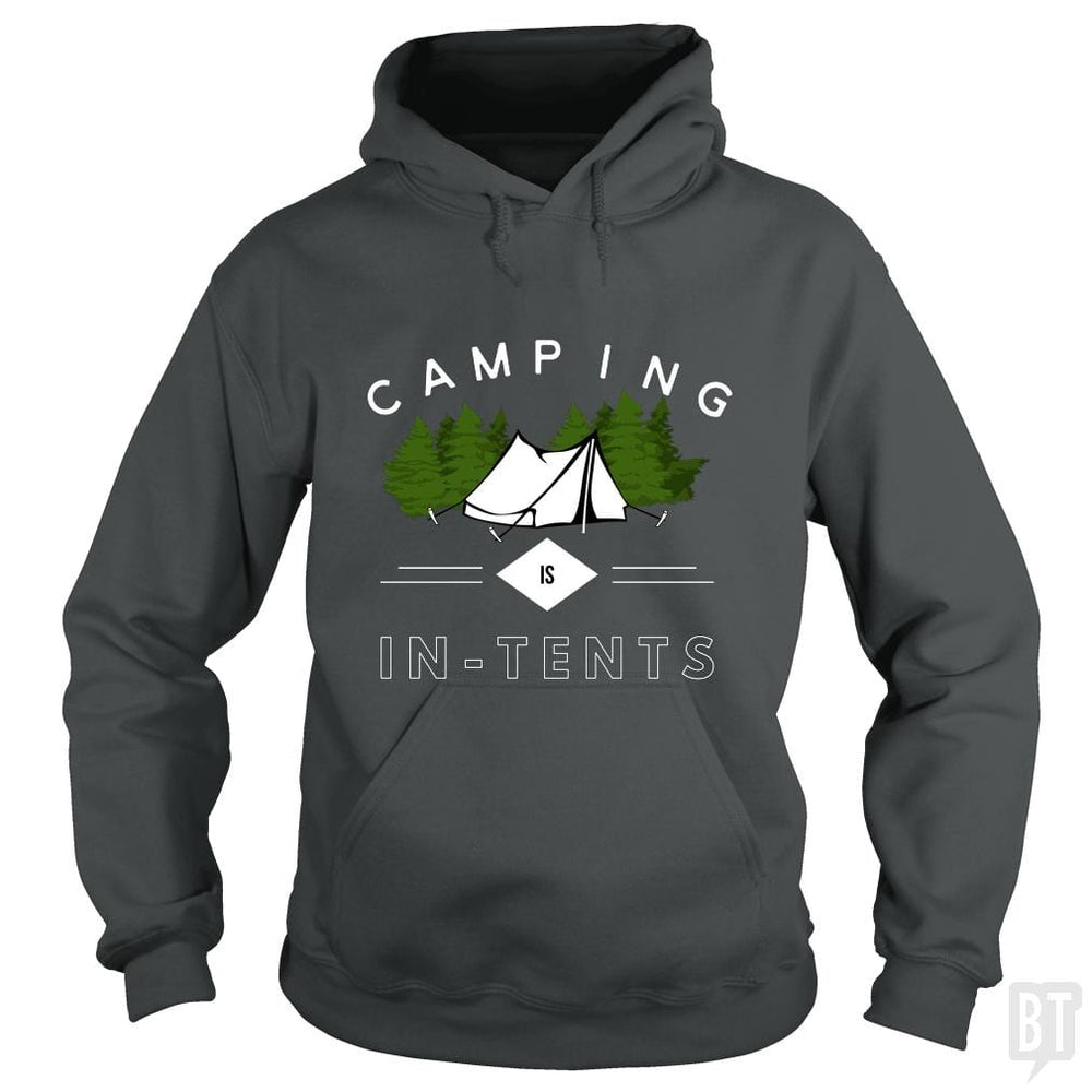 SunFrog-Busted Drandorxxx Hoodie / Dark Heather / S Camping is in-tents, funny word play