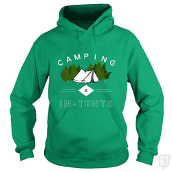 SunFrog-Busted Drandorxxx Hoodie / Irish Green / S Camping is in-tents, funny word play