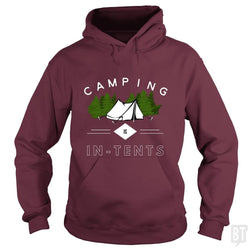 SunFrog-Busted Drandorxxx Hoodie / Maroon / S Camping is in-tents, funny word play