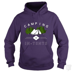SunFrog-Busted Drandorxxx Hoodie / Purple / S Camping is in-tents, funny word play