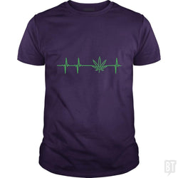 SunFrog-Busted Edible Loving Weedologist Classic Guys / Unisex Tee / Purple / S My heartbeats for Mary Jane