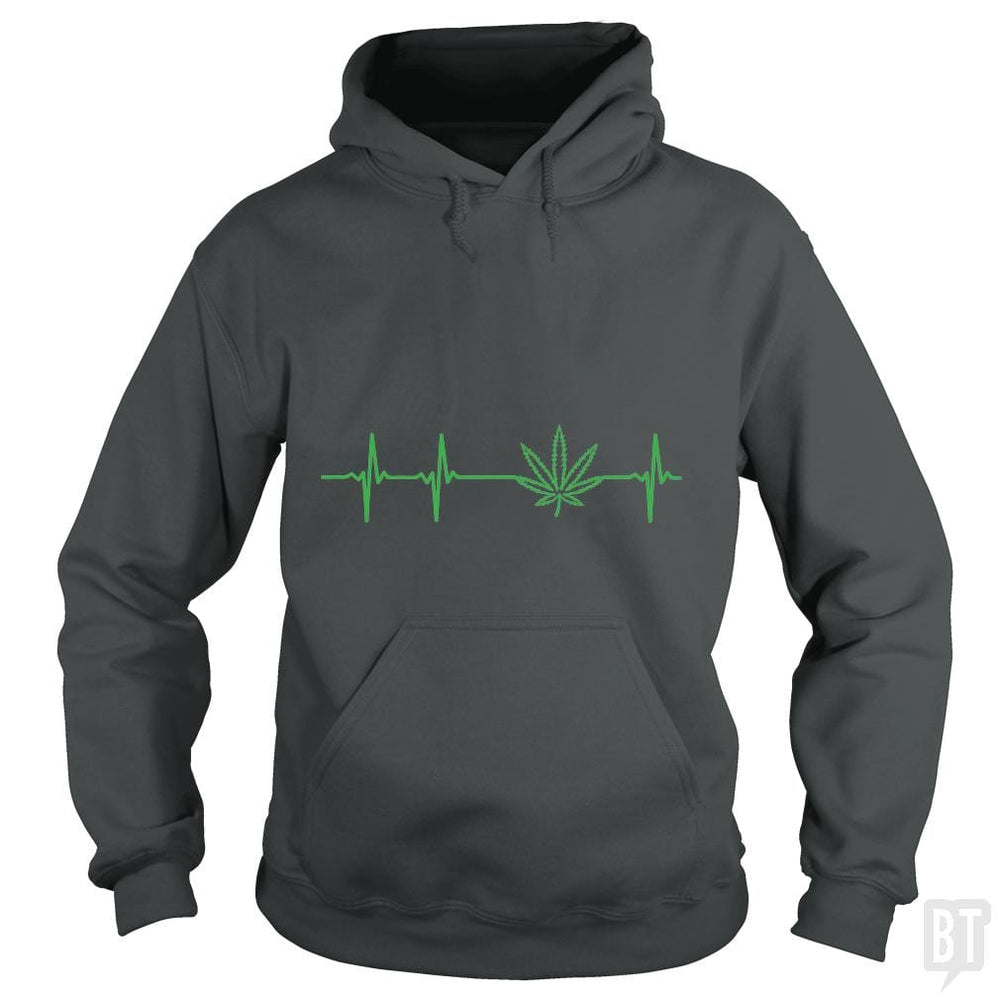 SunFrog-Busted Edible Loving Weedologist Hoodie / Dark Heather / S My heartbeats for Mary Jane