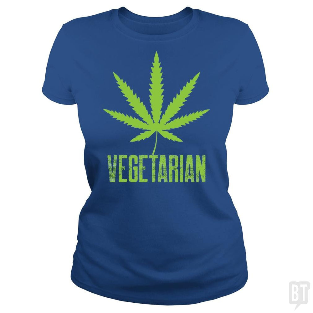 SunFrog-Busted Edible Loving Weedologist Classic Ladies Tee / Royal Blue / S Vegetarian