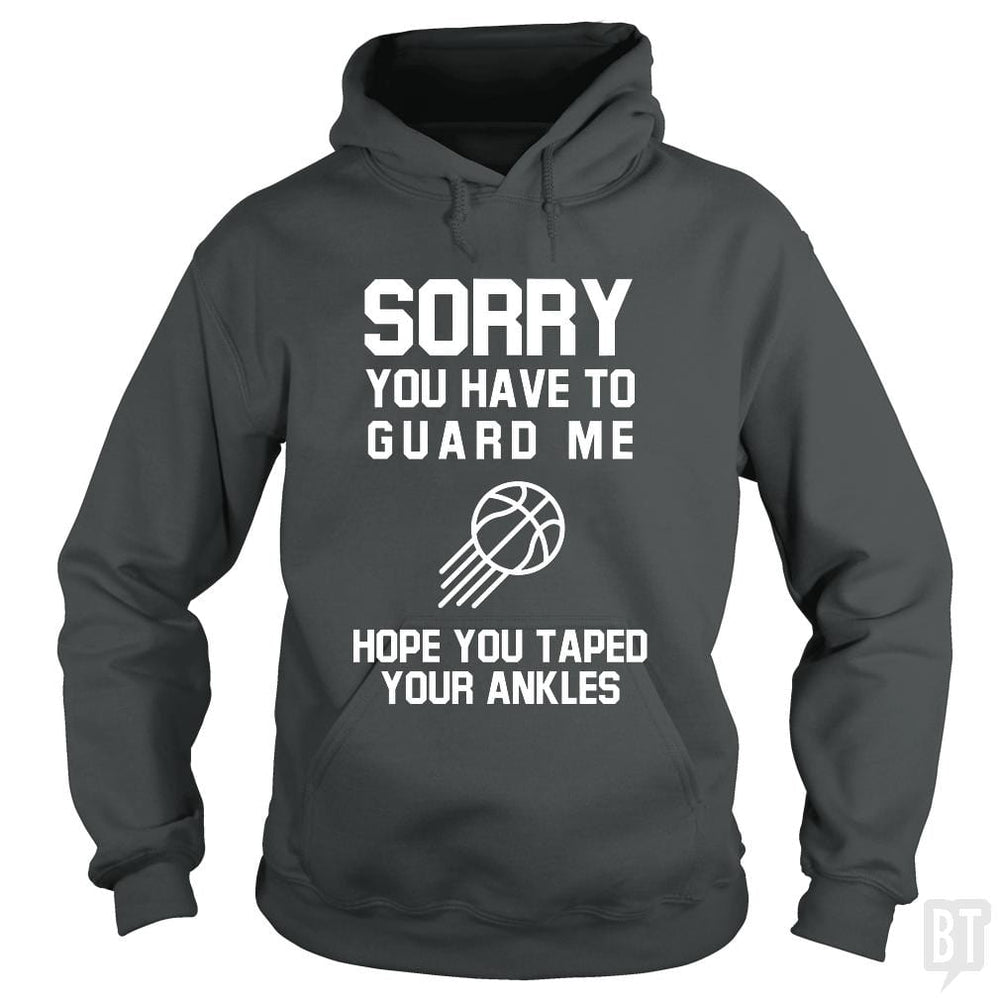 SunFrog-Busted Franceseugenia Hoodie / Dark Heather / S Sorry you have to guard me