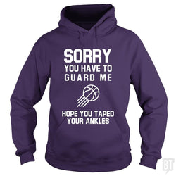 SunFrog-Busted Franceseugenia Hoodie / Purple / S Sorry you have to guard me
