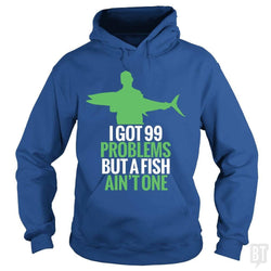 SunFrog-Busted Funky Hippo Hoodie / Royal Blue / S 99 Problems Fish Ain't One
