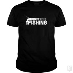 SunFrog-Busted Funky Hippo Classic Guys / Unisex Tee / Black / S Addicted 2 Fishing