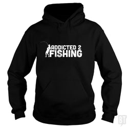 SunFrog-Busted Funky Hippo Hoodie / Black / S Addicted 2 Fishing