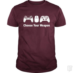 SunFrog-Busted Funky Hippo Classic Guys / Unisex Tee / Maroon / S Choose Your Weapon