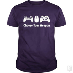 SunFrog-Busted Funky Hippo Classic Guys / Unisex Tee / Purple / S Choose Your Weapon